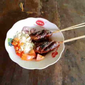 Masakan daging kambing sate dan tongseng