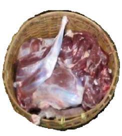 Daging kambing halal di Charleroi, negara Belgia